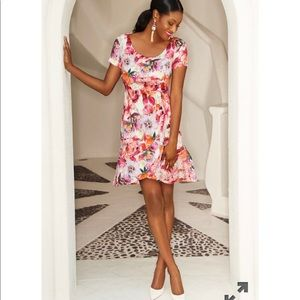 NEW Boston Proper Floral Blooms Dress